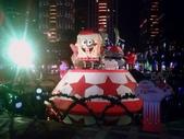 晚餐後逛新北市政府廣場:海綿寶寶