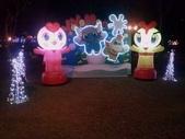 晚餐後逛新北市政府廣場:卡通燈