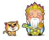 ●商業Q版設計、商業漫畫插畫設計●:Q版神明及虎爺.jpg