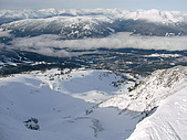 加拿大 Whistler ski trip:天堂看到山下的Village
