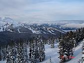 加拿大 Whistler ski trip:從纜車上看Blackcomb