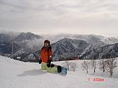 2006年2月6日苗場:這麼美的山頂當然要停下來拍一張