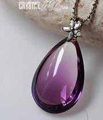 艾文拍的美美水晶:清淨無瑕的紫晶水滴墬子