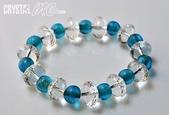 艾文拍的美美水晶:2010/08/12Crystal最新作品之三-白水晶藍琉璃手珠