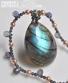 艾文拍的美美水晶:閃著藍光的拉長石水滴項鍊-2010/06/24最新寶貝水晶