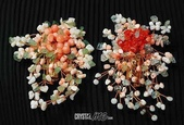 艾文拍的美美水晶:心花綻放--珊瑚別針