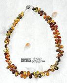 艾文拍的美美水晶:蜜火--桔色碧璽水滴晶鑚項鍊