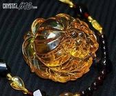 艾文拍的美美水晶:黃金琥珀芙蓉花項鍊