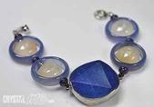 艾文拍的美美水晶:青金石大衛星藍玉髓環手鍊