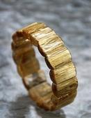 紫色午後:漂亮的鈦晶手珠,像把陽光凍結在透明水晶中金黃燦爛