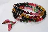 艾文拍的美美水晶:繽紛美麗的彩虹碧璽108顆念珠