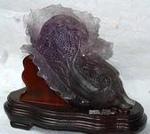 艾文拍的美美水晶:紫晶大白菜擺飾