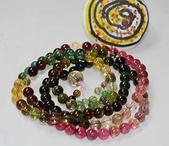 艾文拍的美美水晶:彩虹碧璽108顆念珠