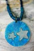 艾文拍的美美水晶:夏日海洋之星貝殼項鍊與耳環