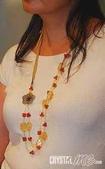 艾文拍的美美水晶:期待--黃水晶紅兔毛水晶長項鍊
