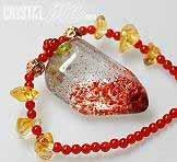 艾文拍的美美水晶:三輪骨幹水晶項鍊