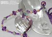 艾文拍的美美水晶:閃亮紫晶心項鍊