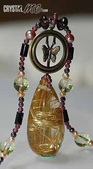 艾文拍的美美水晶:鈦晶蝴蝶銅環項鍊