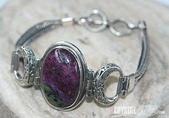 艾文拍的美美水晶:黝簾石純銀手鍊
