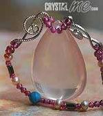 艾文拍的美美水晶:閃亮紫晶心真珠項鍊