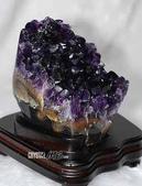 艾文拍的美美水晶:烏拉圭紫晶原礦小擺飾
