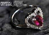 艾文拍的美美水晶:甜心桃紅碧璽純銀戒指(2010/02/25)