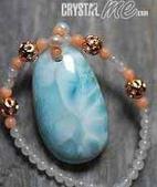 艾文拍的美美水晶:Larimar水淙石項鍊