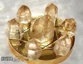 艾文拍的美美水晶:黃水晶柱七星陣