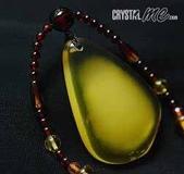 艾文拍的美美水晶:半蜜半珀水滴項鍊