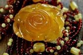 艾文拍的美美水晶:琥珀玫瑰項鍊