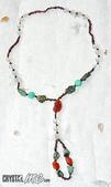 艾文拍的美美水晶:Crystal很喜歡設計師這次獨一無二的作品,突破以往的長項鍊款式,組合了美美古古的西藏老紅玉髓,看得出一些歲月的凹