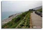 早安!花蓮~觀海:觀海餐廳外木板步道遠眺太平洋