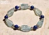 艾文拍的美美水晶:2010/04/01之海藍寶清金石手鍊