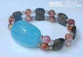 艾文拍的美美水晶:海藍寶貝殼珠手鍊