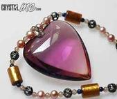 艾文拍的美美水晶:頂級紫黃晶心金珊瑚項鍊