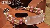 艾文拍的美美水晶:2010/04/01之粉晶版珠玫瑰石手鍊