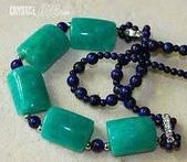 艾文拍的美美水晶:天河石版珠青金石項鍊