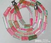 艾文拍的美美水晶:阿富汗長管珠彩虹碧璽項鍊