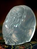 艾文拍的美美水晶:河床水晶老壽翁巧雕擺飾