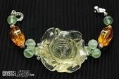 艾文拍的美美水晶:甜美黃水晶玫瑰花手鏈