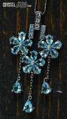艾文拍的美美水晶:藍色拓拔石花朵墬子