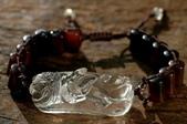艾文拍的美美水晶:白水晶獅頭貔貅手鍊