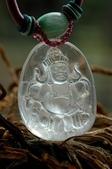 艾文拍的美美水晶:白水晶黃財神項鍊