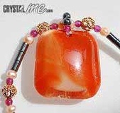 艾文拍的美美水晶:紅兔毛水晶黑瑪瑙項鍊