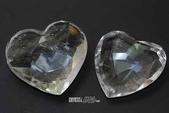 艾文拍的美美水晶:晶瑩剔透的白水晶心型擺飾組