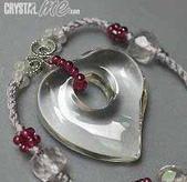 艾文拍的美美水晶:白水晶心型粉晶項鍊