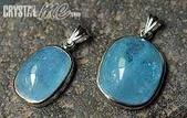 艾文拍的美美水晶:海藍寶純銀墬子