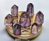艾文拍的美美水晶:紫黃晶柱七星陣