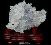 艾文拍的美美水晶:紫晶花正面