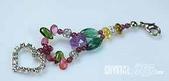 艾文拍的美美水晶:彩虹碧璽藍琉璃手機吊飾